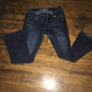 American Eagle stretch 10s kick boot jeans